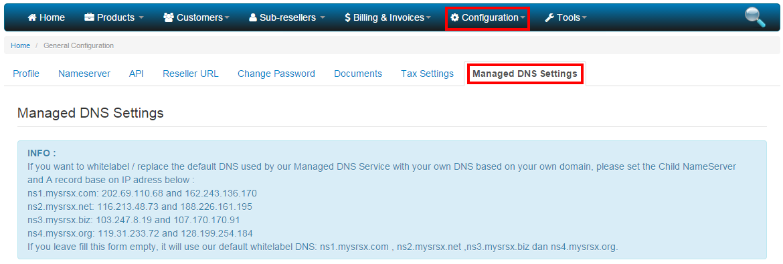 10. manage dns - config
