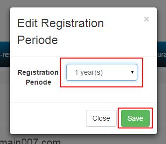 2. Select Periode